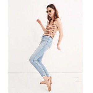 "Madewell 9"" high rise skinny crop jean"